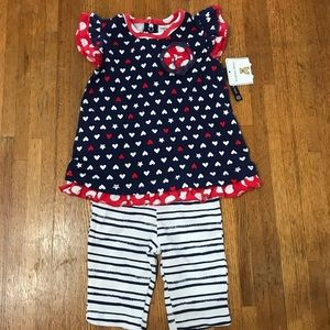 Other - NWT, Red, white and blue outfit, 12m